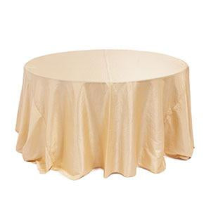 Nappe Ronde Taffetas Irisé - Chair