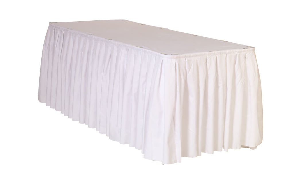 Jupe de Table Polyester – Blanche