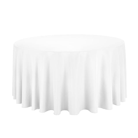 "Nappe Polyester 120"" - Blanc"