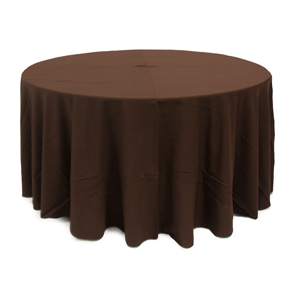 Nappe Ronde Polyester - Brun
