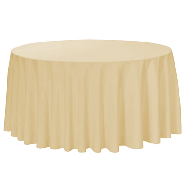 Nappe Ronde Polyester - Champagne