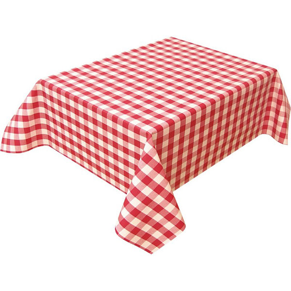 "Nappe Polyester 54"" x 54"" - Rouge Carreaux"