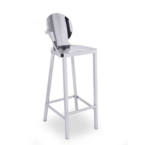 Tabouret Louisa Chrome