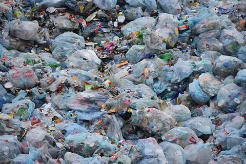 image of piles of garbage in landfill