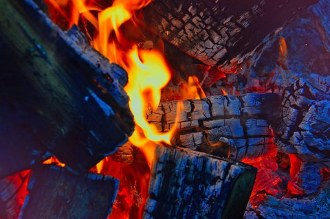image of a wood fire