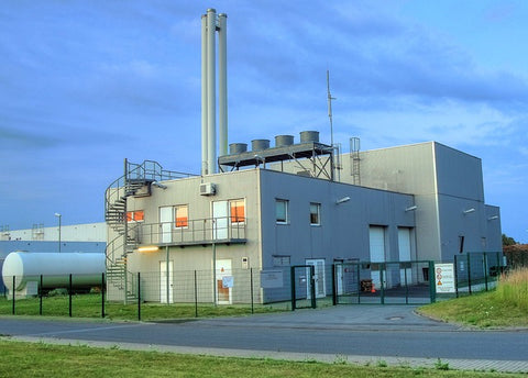 image of a biomass power plant