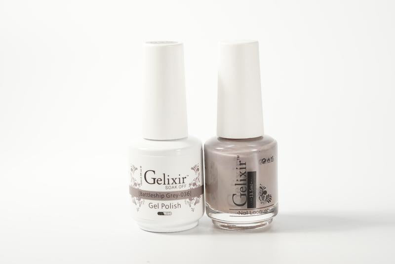 Gelixir Duo Gel & Lacquer Battleship Grey 1 PK #036-Beauty Zone Nail Supply