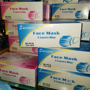 50 pc Success Medical Dental Industry Face Mask 3 Layer