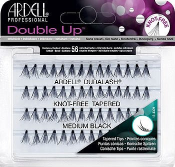 Ardell Double Up Soft Touch Knot-Free Medium Black-Beauty Zone Nail Supply