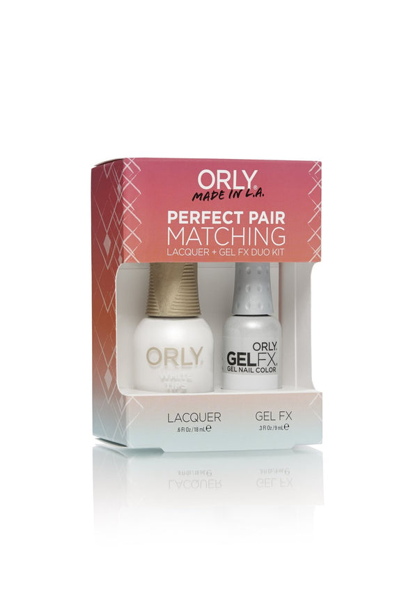 Orly Duo White Tips ( Lacquer + Gel) .6oz / .3oz 31100
