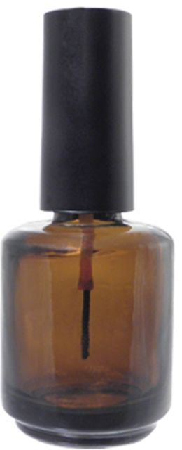 Empty Nail Bottle UV Dark 0.5 oz - BeautyzoneNailSupply