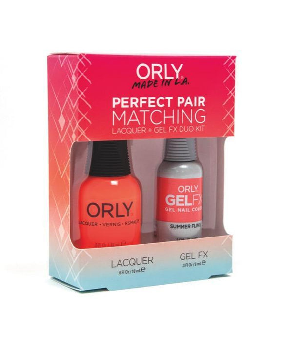 Orly Duo Summer Fling ( Lacquer + Gel) .6oz / .3oz 31155