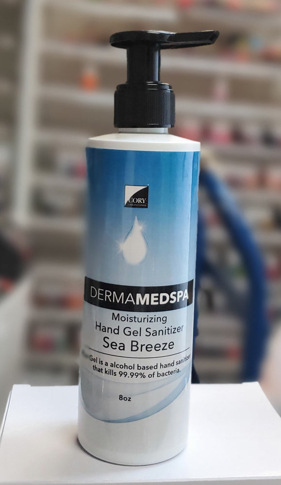 Derma MedSpa Hand Gel Sanitizer Sea Breeze 8oz