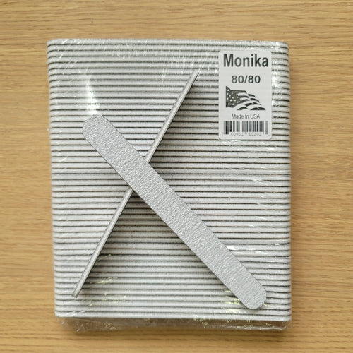 Monika Nail File Zebra 80/80 USA Pack 50 pcs F004P-Beauty Zone Nail Supply