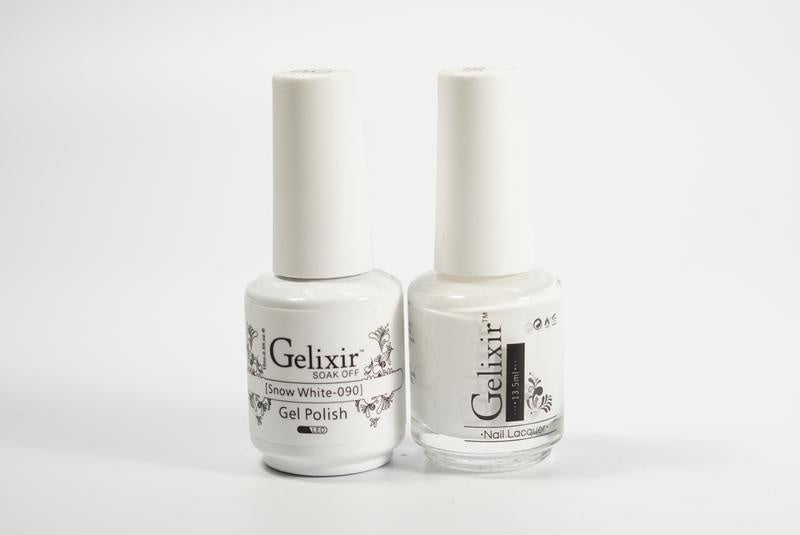 Gelixir Duo Gel & Lacquer Snow White 1 PK #090-Beauty Zone Nail Supply