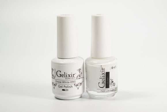 Gelixir Duo Gel & Lacquer Snow White 1 PK #090