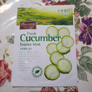 Pure Mind Essence Mask Fresh Cucumber 10 bag-Beauty Zone Nail Supply