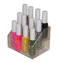 Nail art color 12 bottle organizer angle plastic
