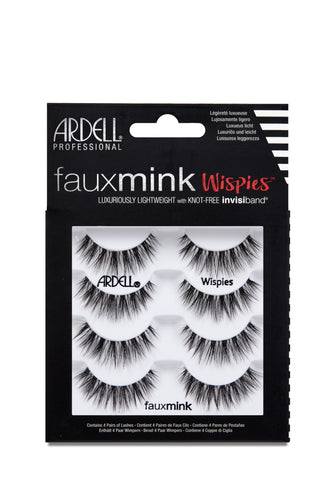 Ardell Fauxmink Lashes, Wispies - 4 Pairs #67509-Beauty Zone Nail Supply