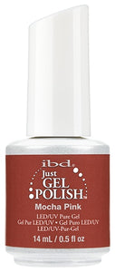 Just Gel Polish Mocha Pink 0.5 oz-Beauty Zone Nail Supply