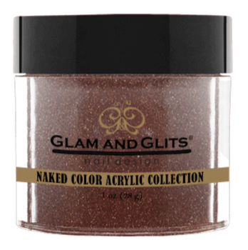 Glam & Glits Naked Color Acrylic Powder (Shimmer) 1 oz Rustic Red - NCAC430