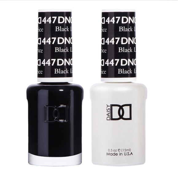 DND Duo Gel & Lacquer Black Licorice #447