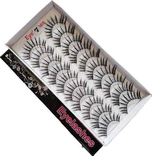 BeautyZone Best Fake False Eyelashes 10 Pair #07