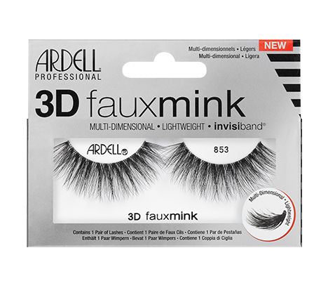 Ardell 3D Faux Mink Lash 853 #67449-Beauty Zone Nail Supply