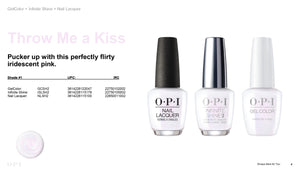 OPI infinite Shine Throw Me a Kiss #ISLSH2