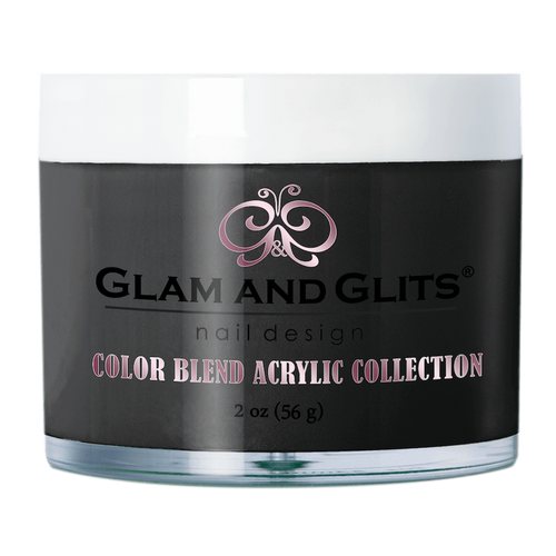 Glam & Glits Acrylic Powder Color Blend (Shimmer) 2 oz Black Market - BL3092-Beauty Zone Nail Supply