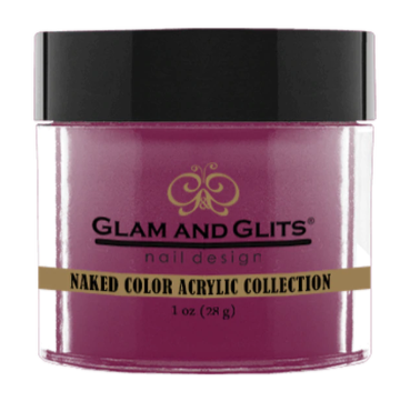 Glam & Glits Naked Color Acrylic Powder (Shimmer) 1 oz Smoldering Plum- NCAC442