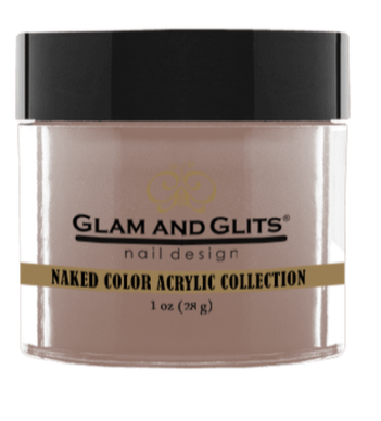 Glam & Glits Naked Color Acrylic Powder (Cream) 1 oz Apple Matching Polish Color #264 Totally Taupe- NCAC408-Beauty Zone Nail Supply