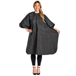 Techno Vinyl Shampoo Cape with Stay-dry Back Guard