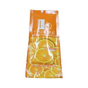 Red Manicure Pedicure Spa Step 1 Tangerine Bubbly Salt-Beauty Zone Nail Supply