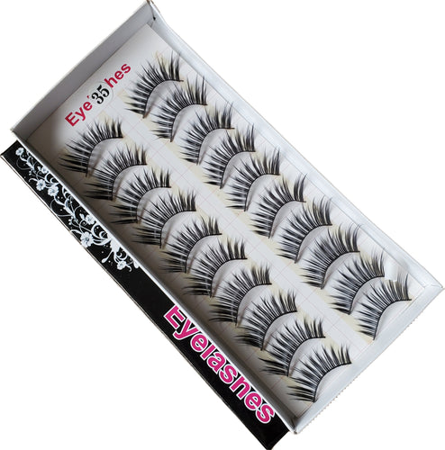 BeautyZone Best Fake False Eyelashes 10 Pair #35