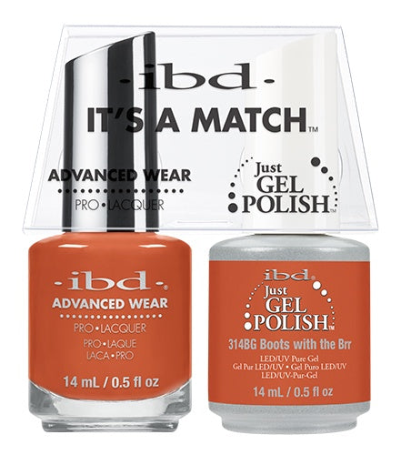 IBD Gel Polish DUO Boots With The Brr 14mL / 0.5 fl oz #65256