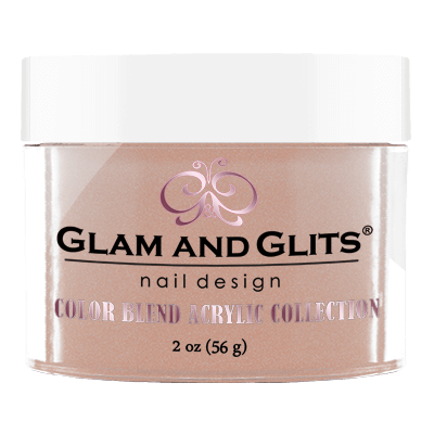 Glam & Glits Acrylic Powder Color Blend Nutty Nude 2 Oz- Bl3008-Beauty Zone Nail Supply
