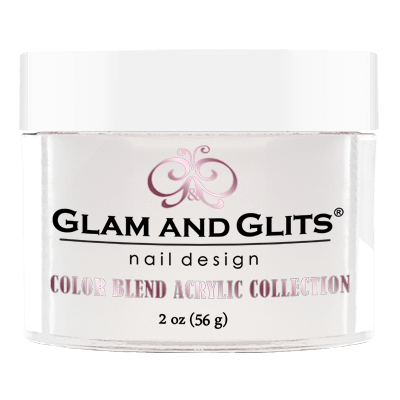 Glam & Glits Acrylic Powder Color Blend Milky-White 2 Oz - Bl3001-Beauty Zone Nail Supply