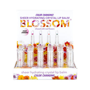 Blossom Lip Gloss Tube Color Changing Crystal Palm
