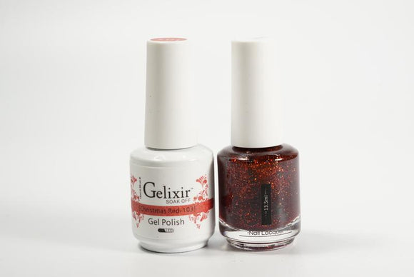 Gelixir Duo Gel & Lacquer Christmas Red 1 PK #103