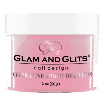 Glam & Glits Acrylic Powder Color Blend Tickled Pink 2 Oz- Bl3019-Beauty Zone Nail Supply