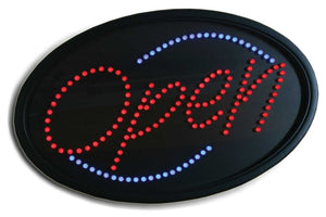 LED OPEN SIGN OVAL #LED5 - BeautyzoneNailSupply