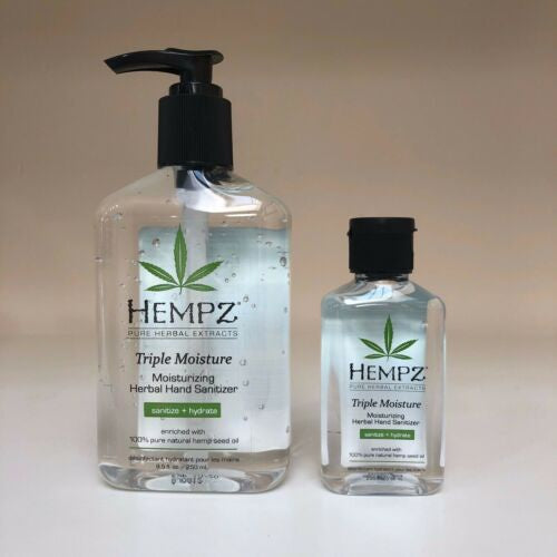 Hempz Hand Sanitizer Moisturizing Herbal Kills 99.99%-Beauty Zone Nail Supply