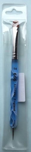 666 french brush blue mable w/tool size 14 - BeautyzoneNailSupply