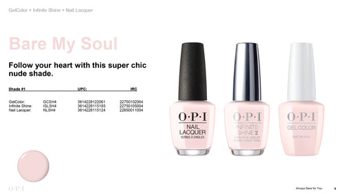 OPI infinite Shine Bare My Soul #ISLSH4