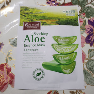 Pure Mind Essence Mask Soothing Aloe 10 bag-Beauty Zone Nail Supply