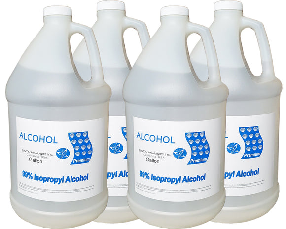 Isopropyl Alcohol 99% (Case 4 Gallon)