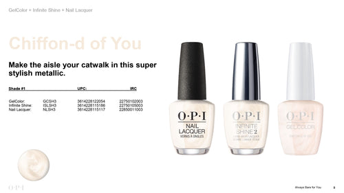 OPI infinite Shine Chiffon-d of You #ISLSH3