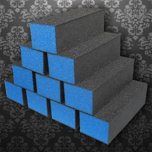 D03 Dixon buffer 3 way Blue Black grit 100/180 500 pc-Beauty Zone Nail Supply
