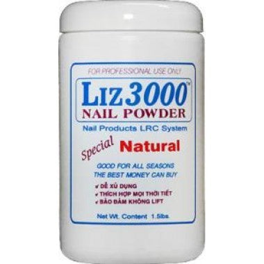 LIZ 3000 POWDER NATURAL 1.5 LB #36-Beauty Zone Nail Supply